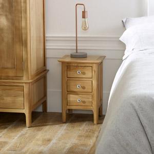 Oak Wood Bedside Table - Oakley Range