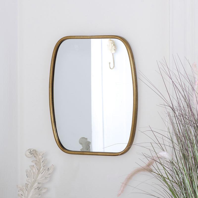 Rustic Gold Framed Mirror 40cm x 48.5cm