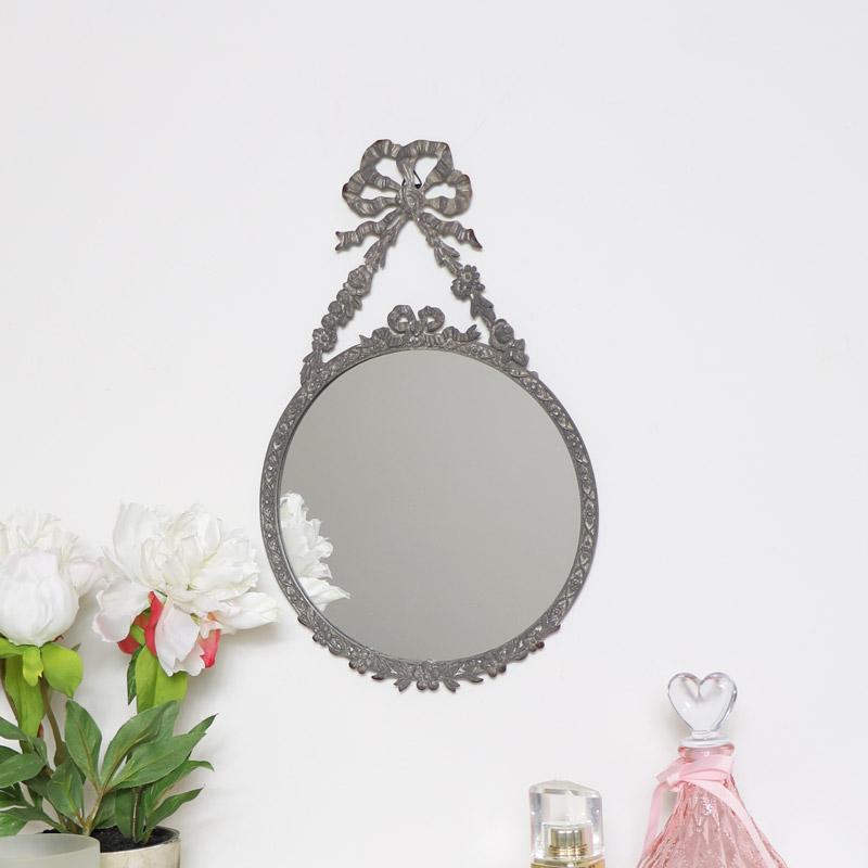 Grey Vintage Style Wall Mirror