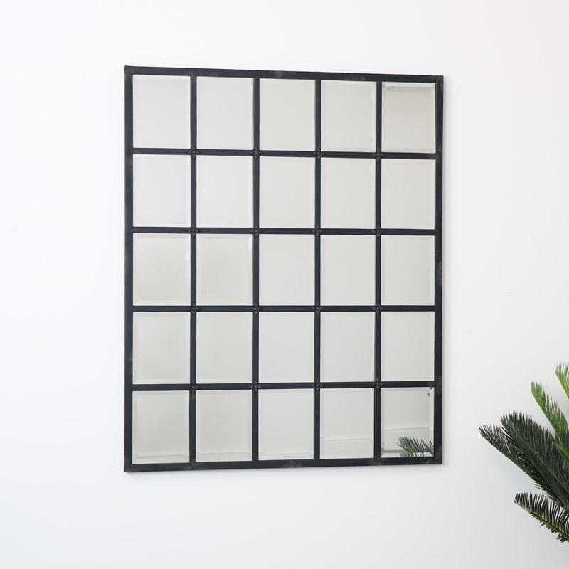 Extra Large Metal Window Mirror 110cm x 135cm