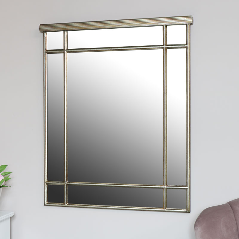 Gold Window Style Wall Mirror 82cm x 100cm