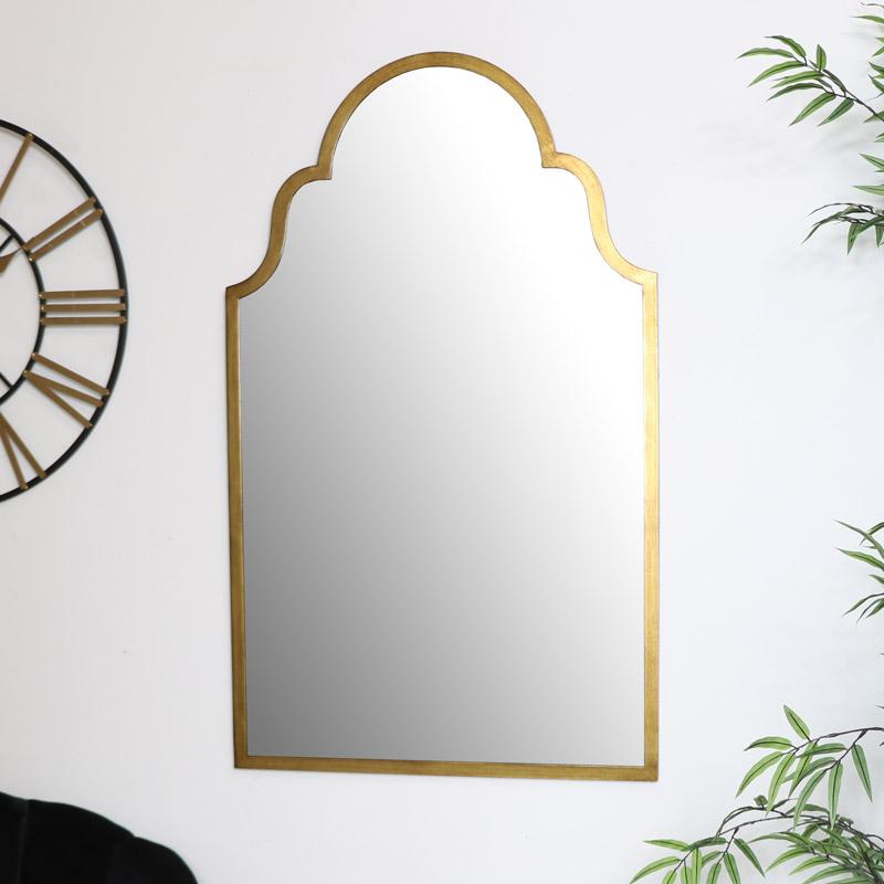 Arched Gold Wall Mirror 61cm x 101cm