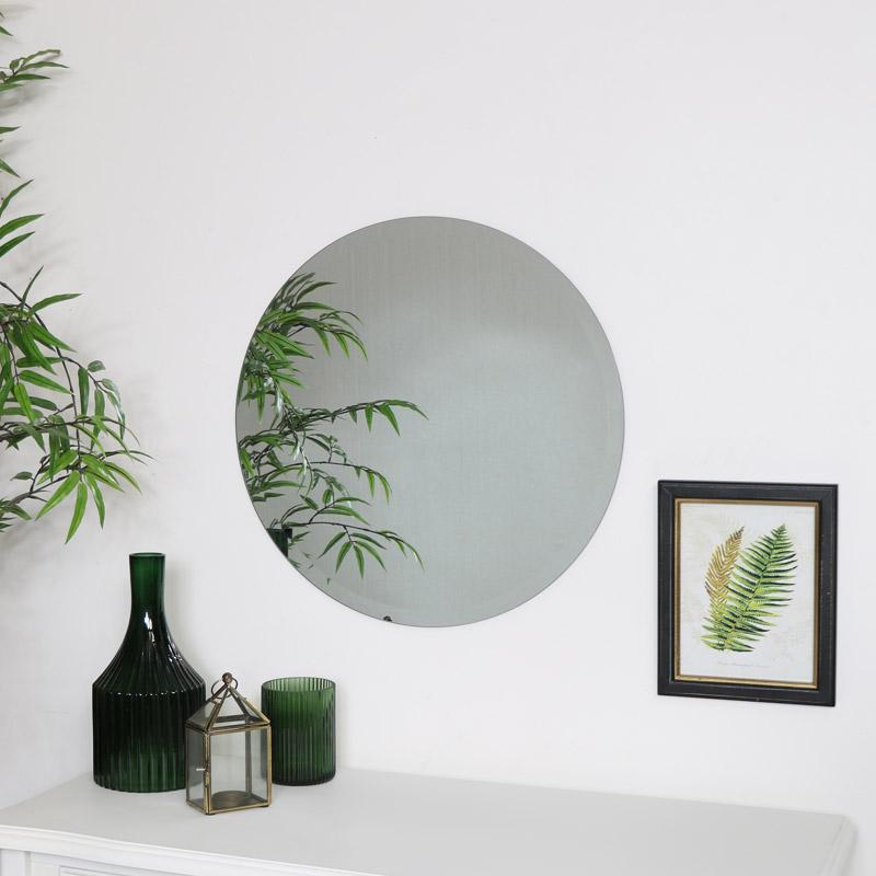 Round Frameless Mirror 50cm x 50cm