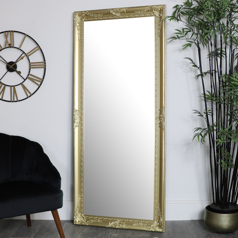 Large Ornate Gold Wall/Floor Mirror