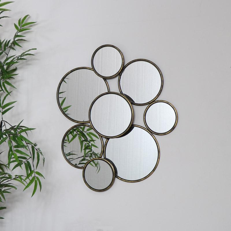 Multi Circle Gold Mirror