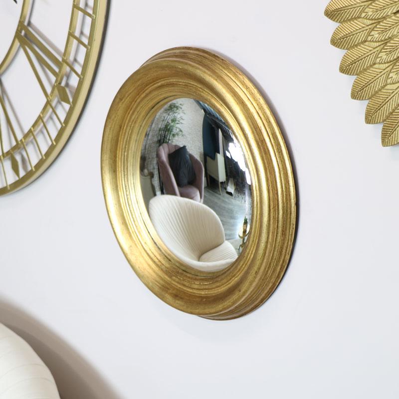 Round Gold Corvex Mirror