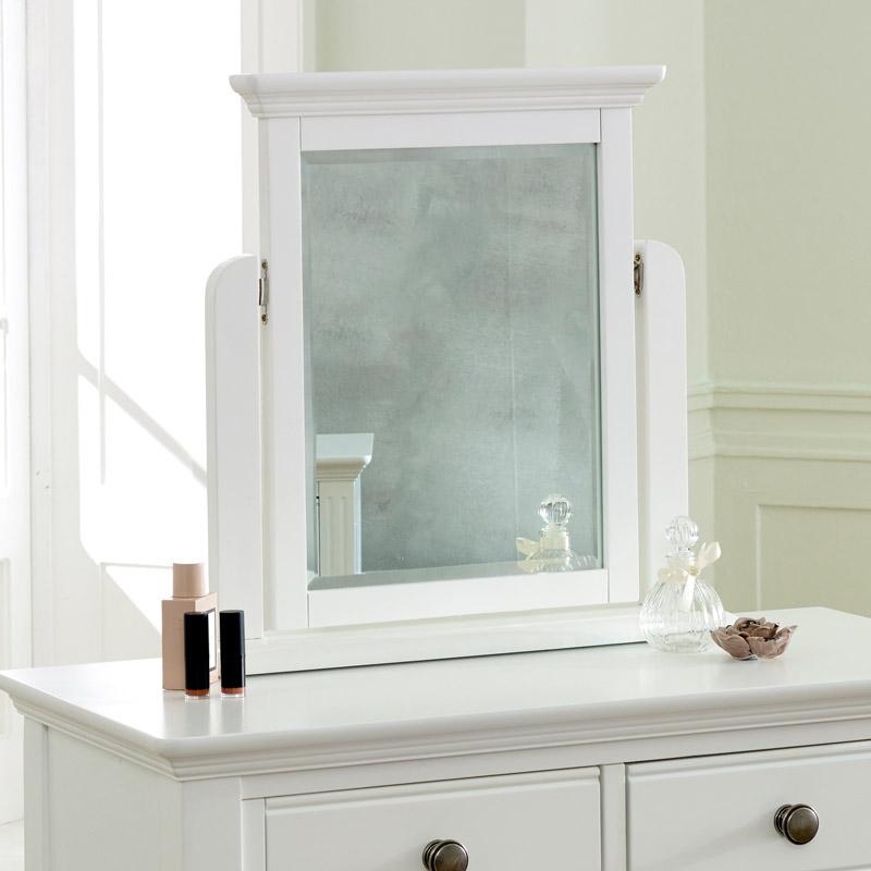 White Dressing Table Mirror - Davenport White Range