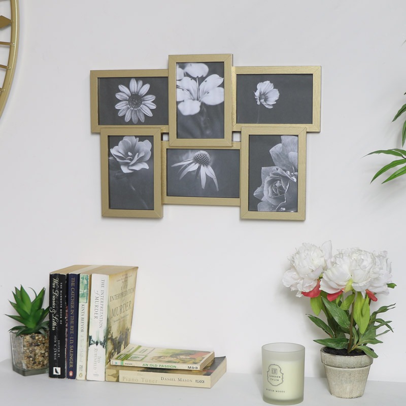 Champagne Multi Photo Frame