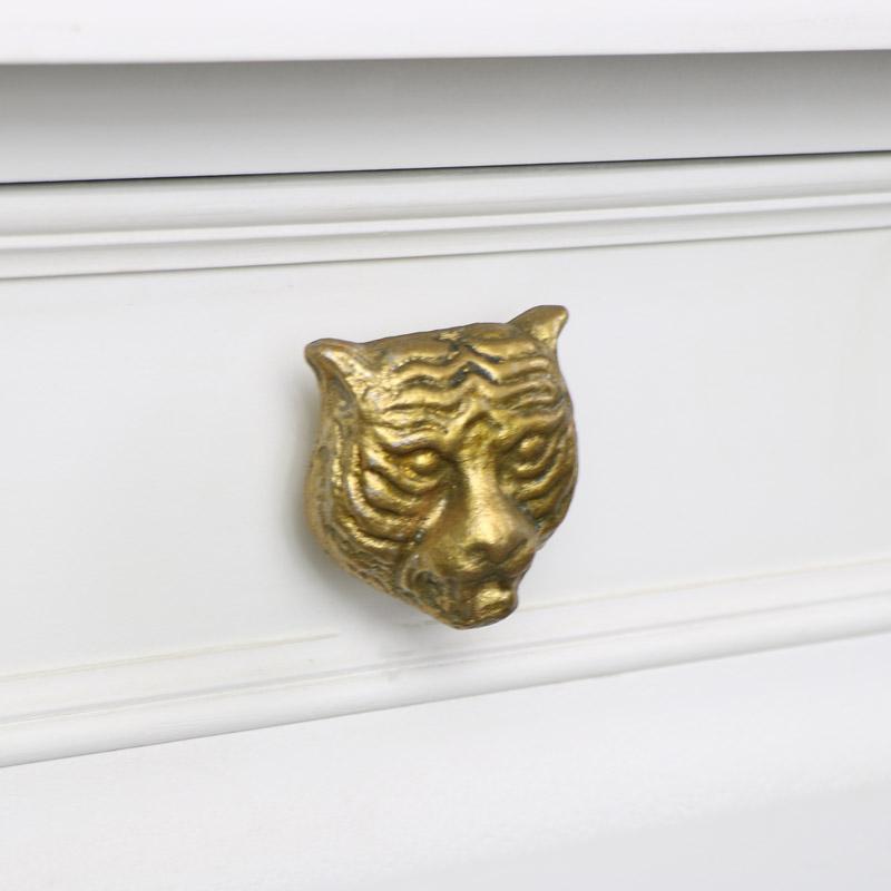 Gold Tiger Head Drawer Knob