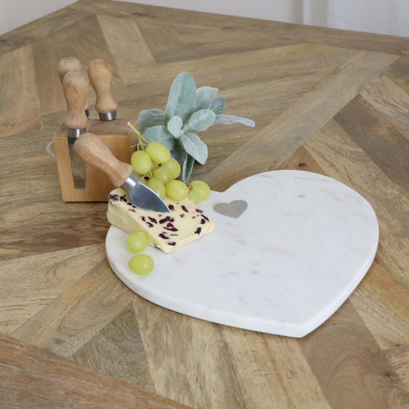 Heart Shaped Marble Chopping Board