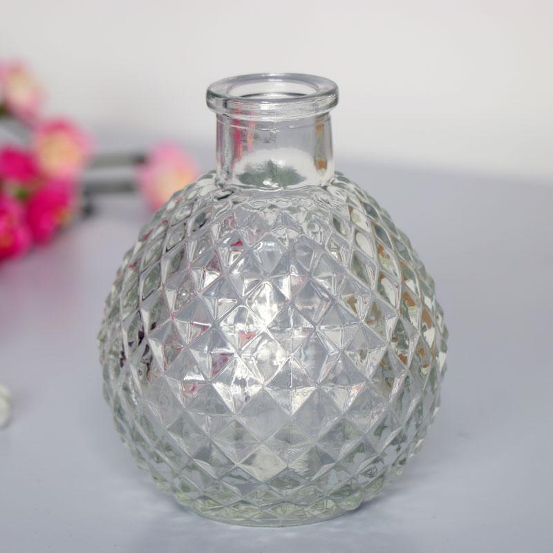 Decorative Clear Glass Bottle Vase