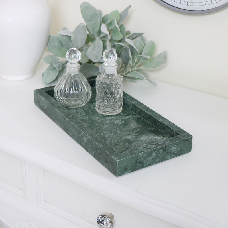 Green Marble Tray