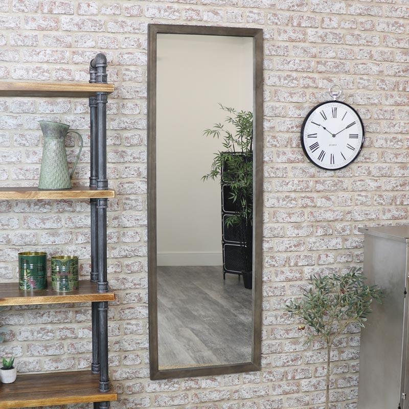 Tall Wooden Framed Mirror 50cm x 150cm