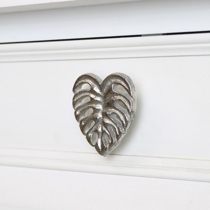 Silver Monstera Leaf Drawer Knob