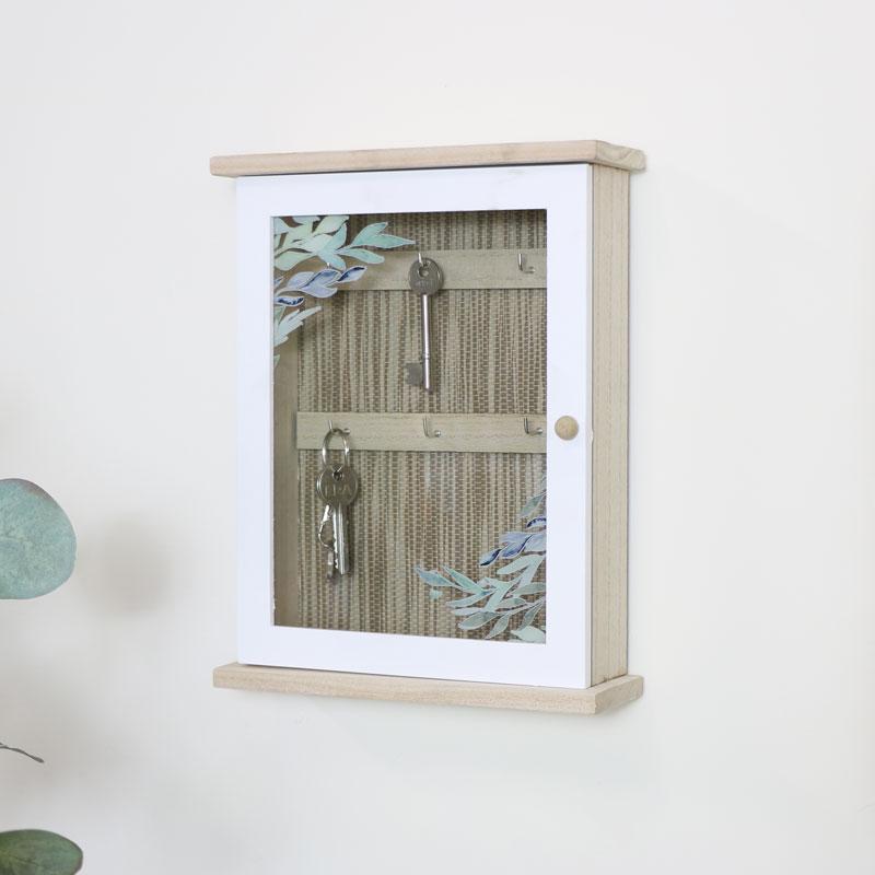 Wood & Glass Olive Key Cabinet