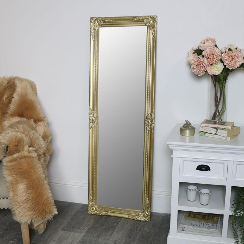 Ornate Gold Wall Mirror 47cm x 142cm