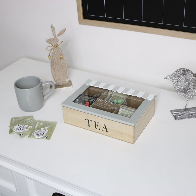 Vintage Wooden Tea Storage Box