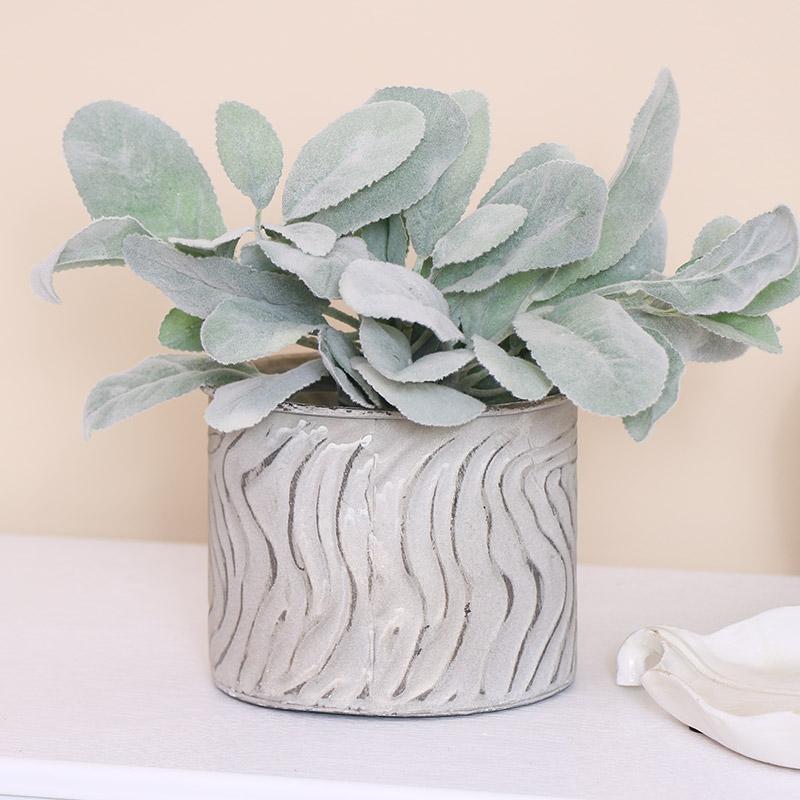 Small Zebra Print Plant Pot