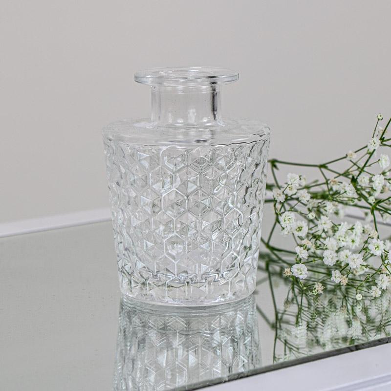 Decorative Cut Glass Bottle Vase