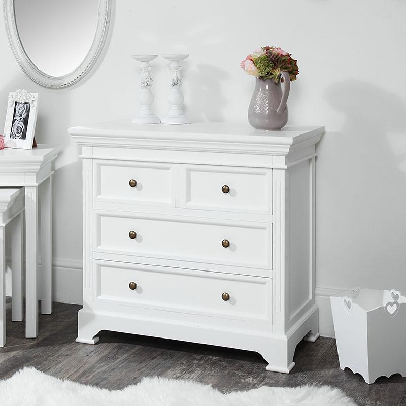 White 4 Drawer Chest of Drawers - Daventry White Range