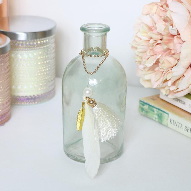 Decorative Blue Glass Bottle Vase