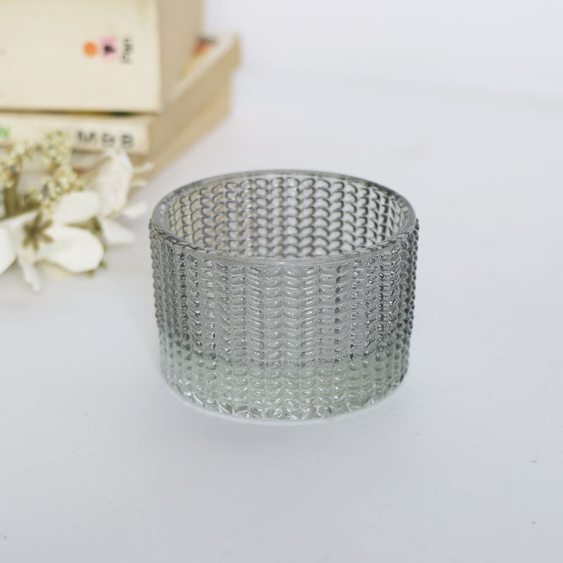 Small Grey Patterned Tealight Holder