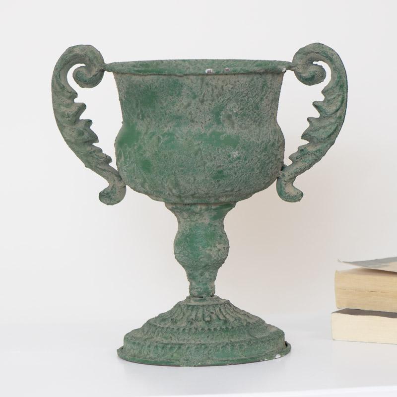 Green Decorative Urn