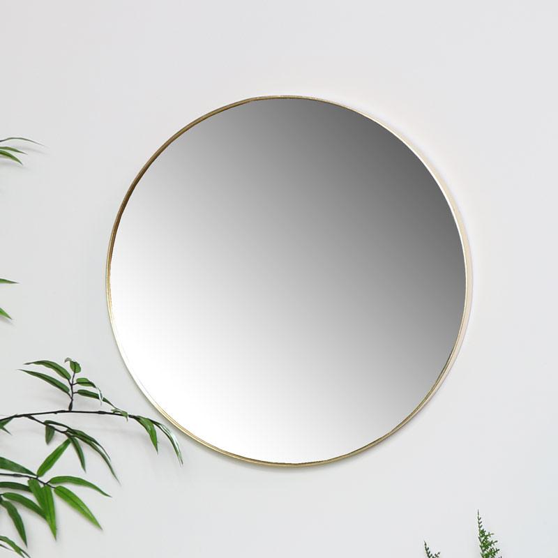 Round Gold Wall Mirror 41cm x 41cm