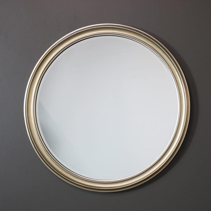 Large Round Silver Wall Mirror 79cm x 79cm