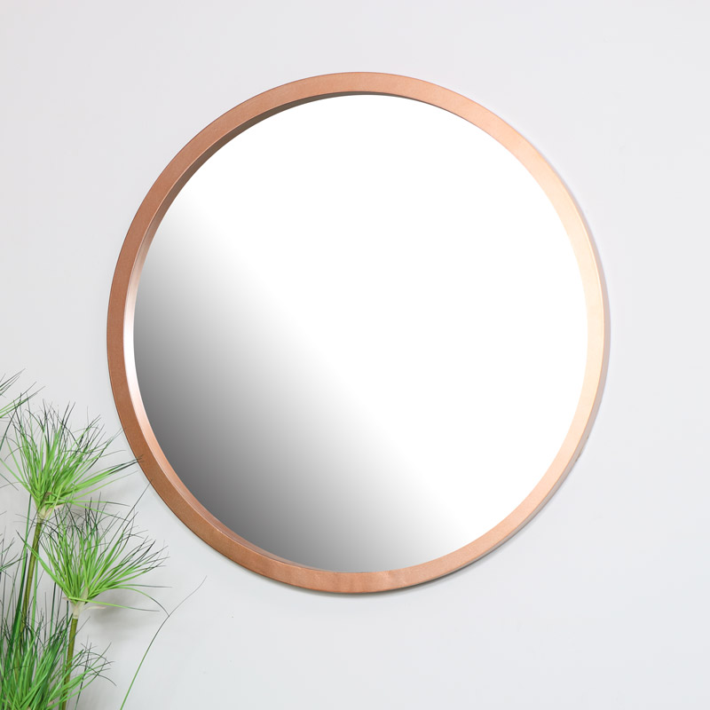 Large Round Copper Wall Mirror 100cm x 100cm