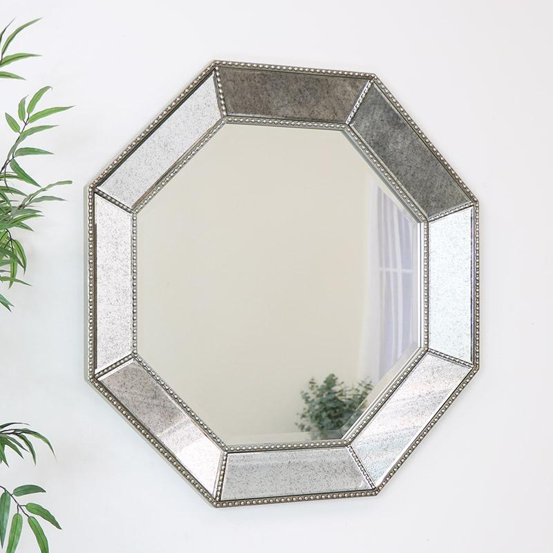 Octagon Antique Bevelled Wall Mirror 82cm x 82cm