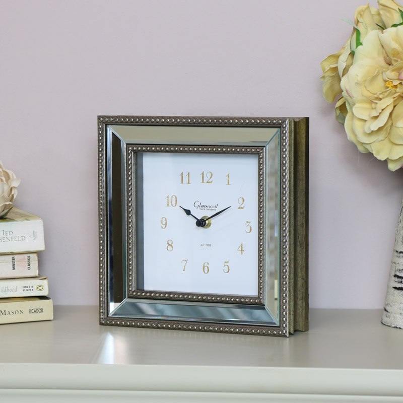 Vintage Mirrored Mantel Clock