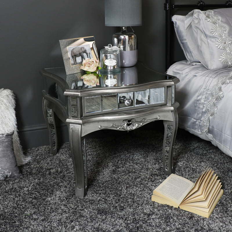 Tiffany Range - Mirrored One Drawer Low Table