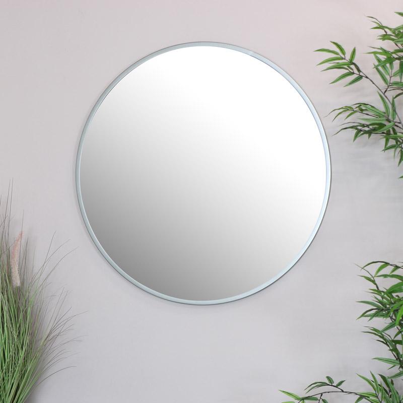 Round Silver Wall Mirror 80cm x 80cm