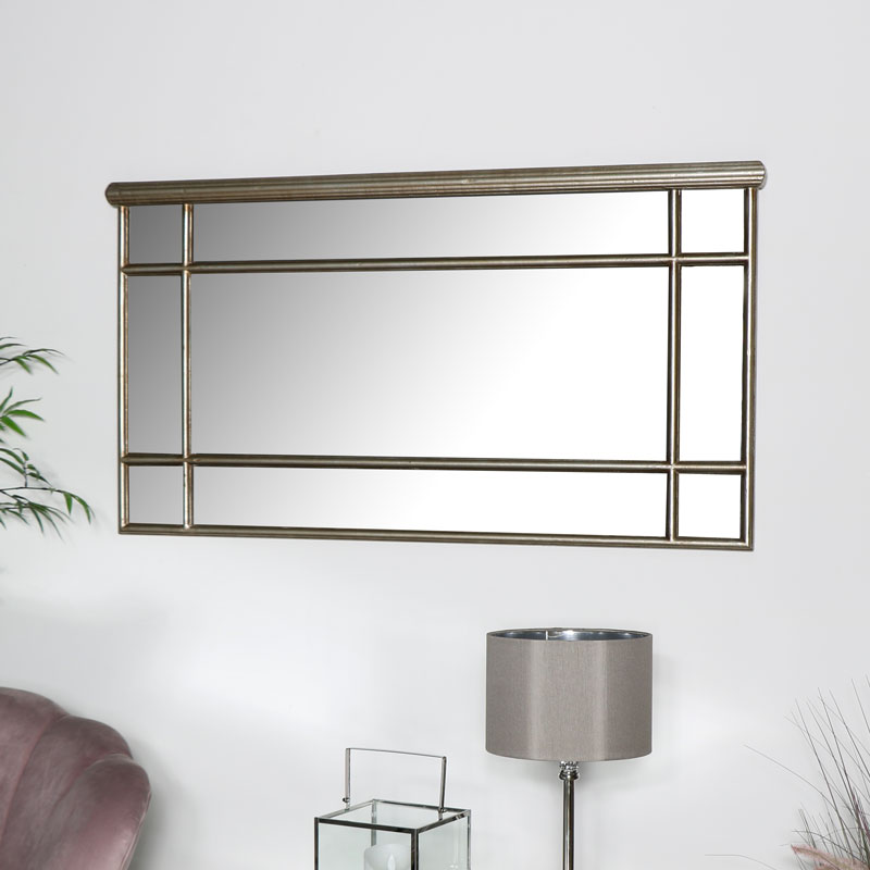 Gold Over Mantel Mirror - Deco Range