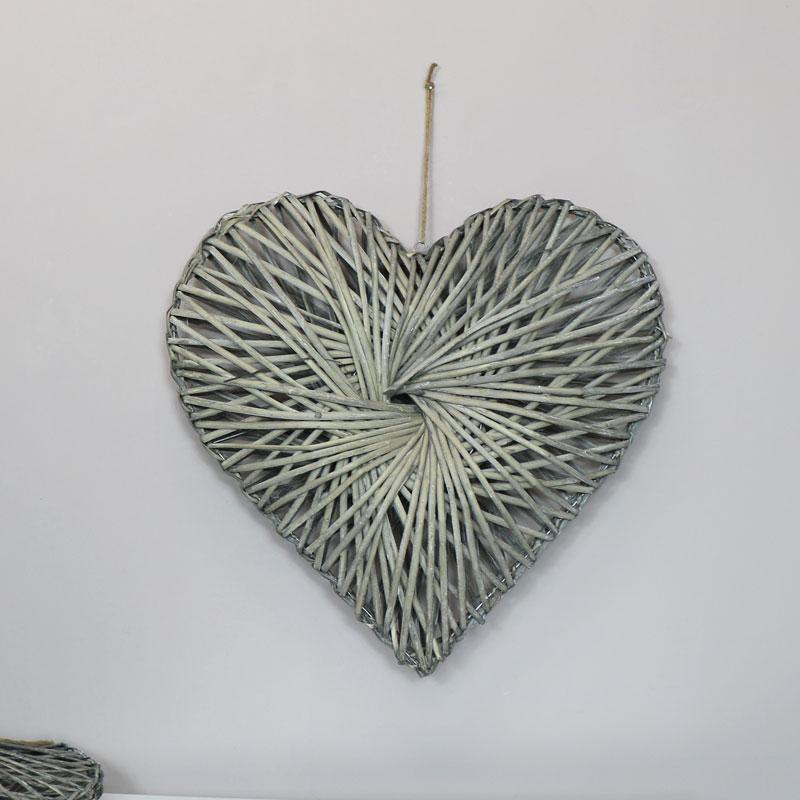 Woven Wooden Willow Heart - Medium