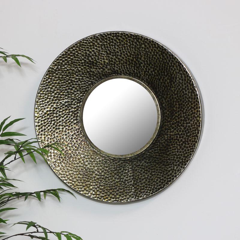 Round Bronze Wall Mirror 50cm x 50cm
