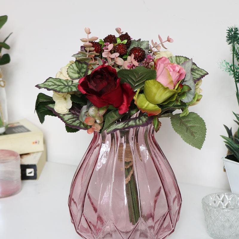 Faux Country Bramble Rose Bouquet