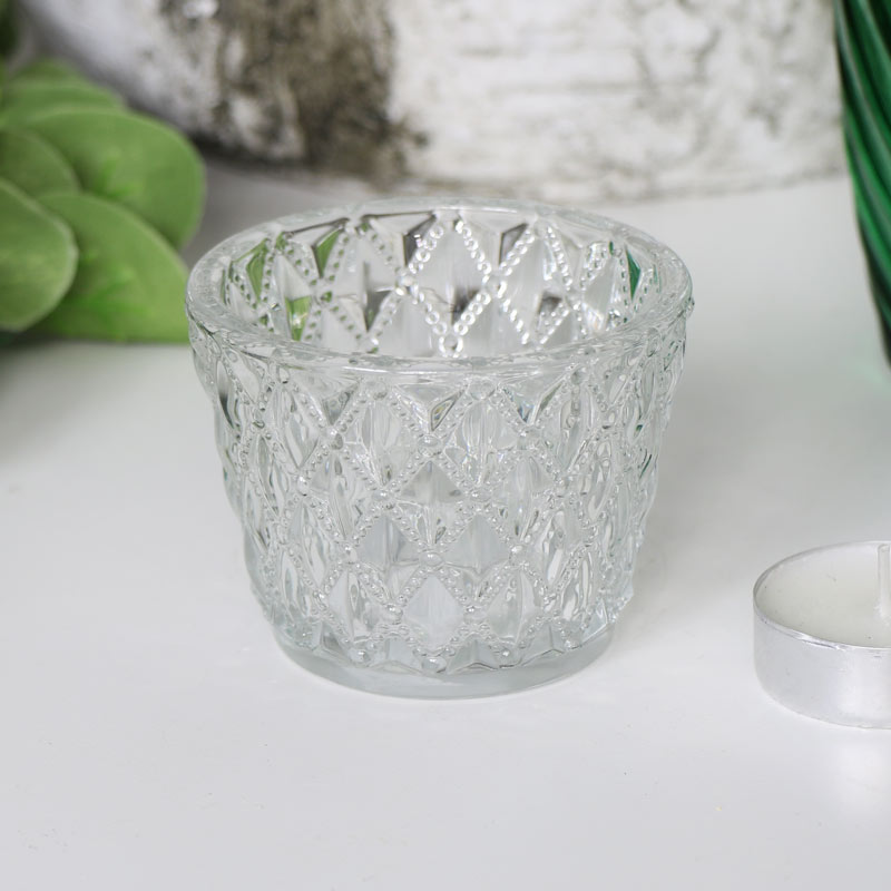 Vintage Cut Glass Tealight Holder