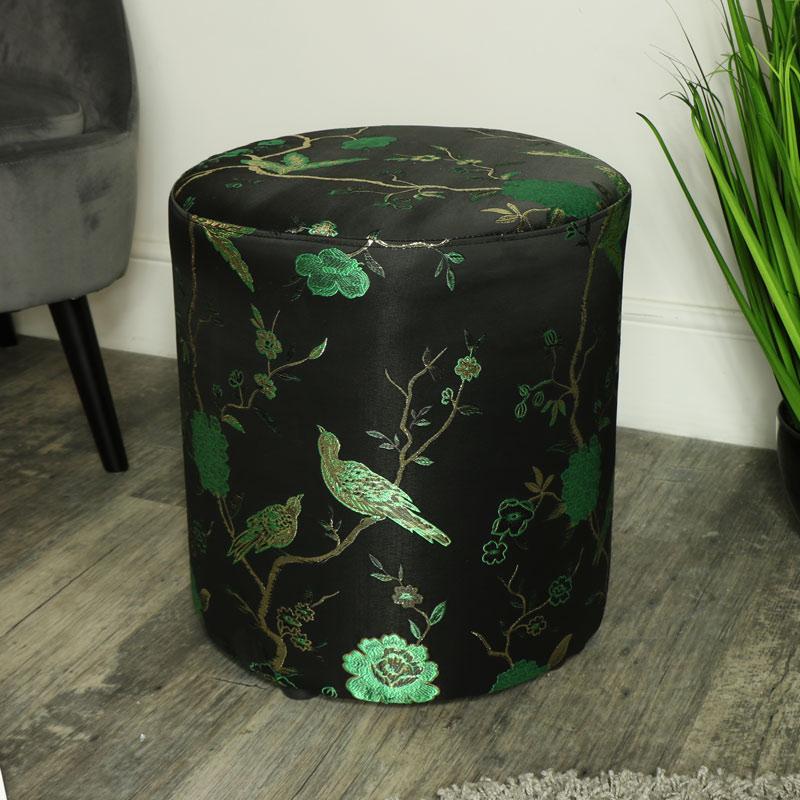 Green & Black Oriental Stool