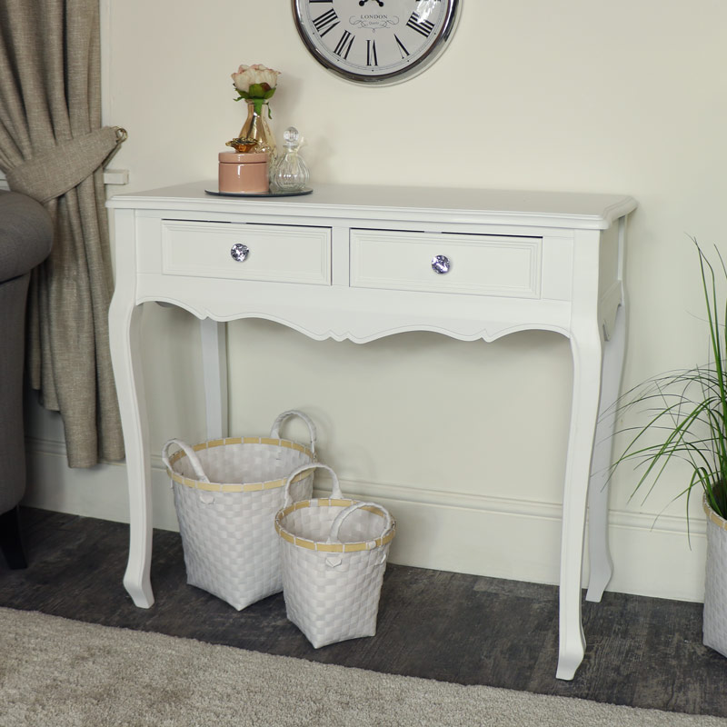 White Console / Dressing Table - Victoria Range
