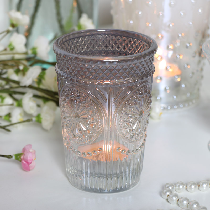 Glass Ombre Tealight Holder