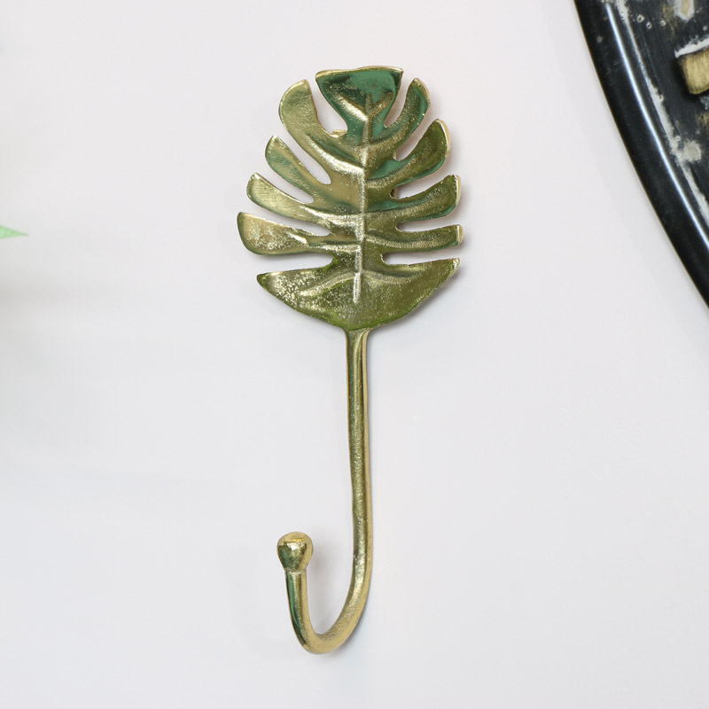 Gold Monstera Leaf Wall Hook