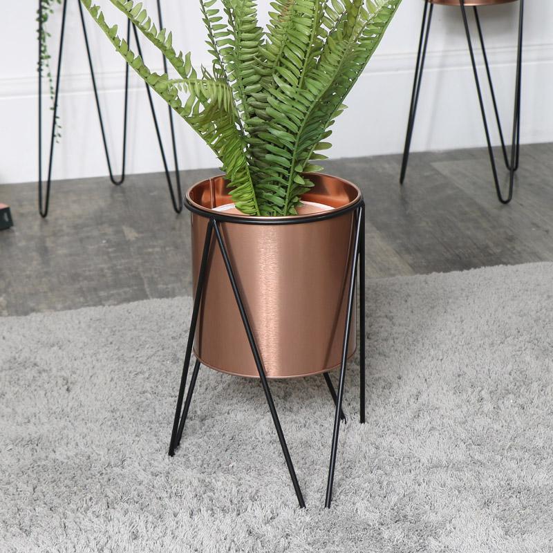 Copper Plant Stand - Small