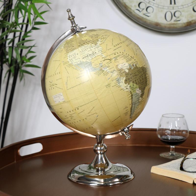 Vintage Silver Globe