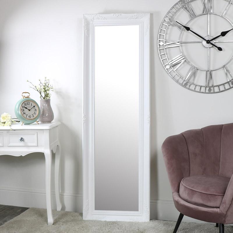 Tall White Wall Mirror