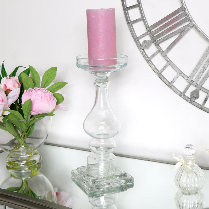 Large Glass Candlestick