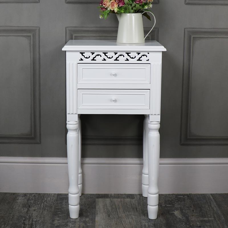 Blanche Range - White 2 Drawer Bedside