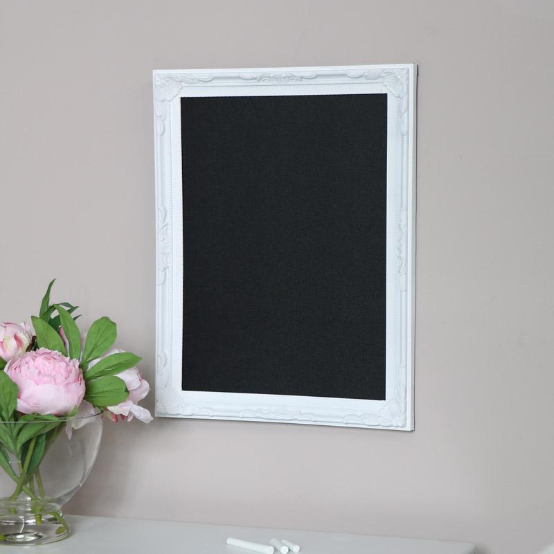 White Framed Chalk Board