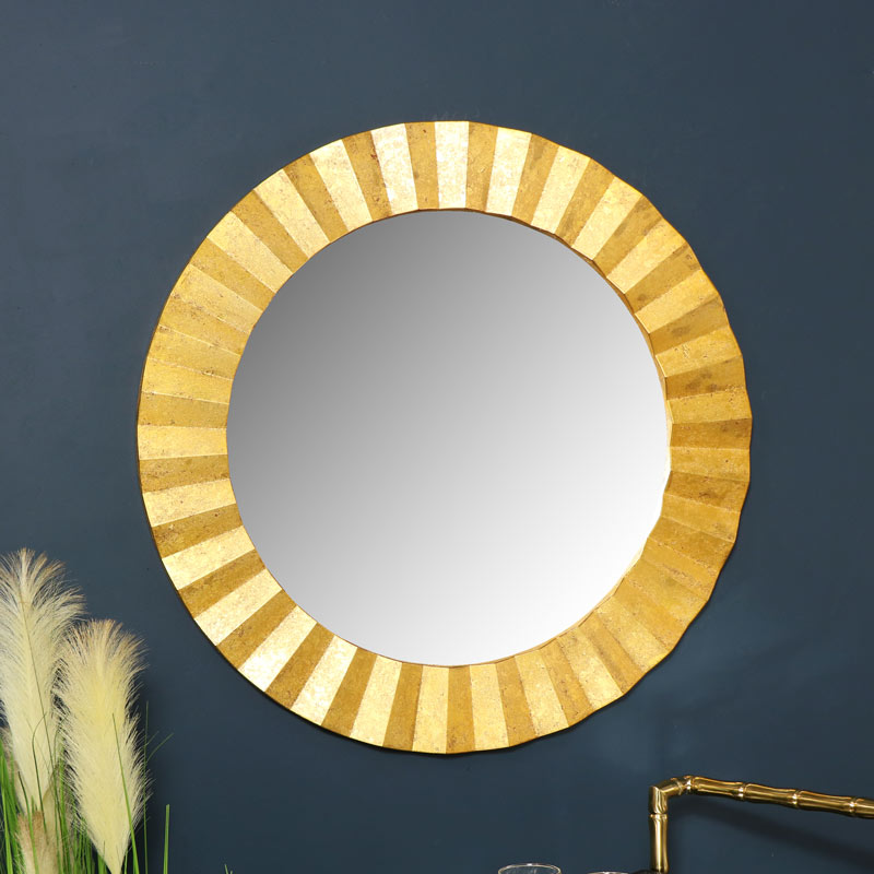 Round Gold Wall Mirror 79cm x 79cm